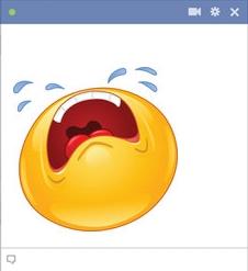 Facebook Crying Emoticon Shedding Tears