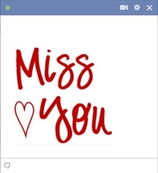 Facebook Miss You Emoticon