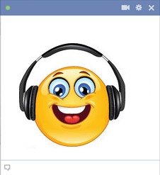 Listening to music smiley face
