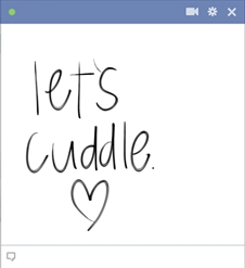 Cuddle Emoticon