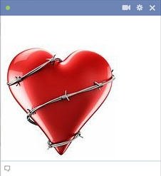 Heart Covered With Barbed Wire