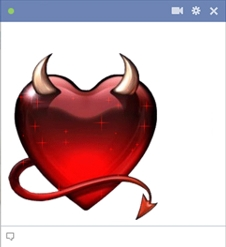 Devil Heart Facebook Emoticon