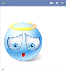 Sweet Blue Angel Smiley For Facebook