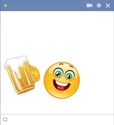 Beer emoticon for facebook