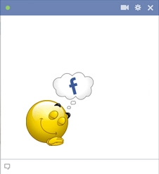 Smiley Dreaming Of Facebook