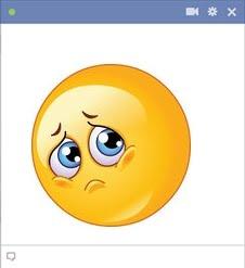 Facebook Sad Emoticon Almost Crying