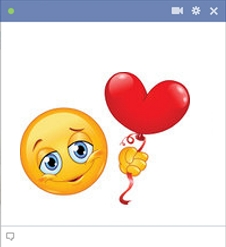 Smiley Holding The Heart Balloon