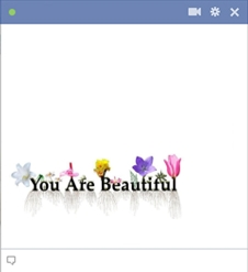 You are beautiful decorated text