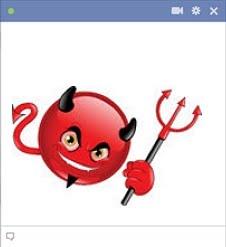 Evil Devil Emoticon