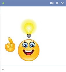 Facebook Smiley Having An Idea